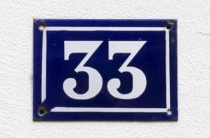 number 33 plate - how to build community with master number 33