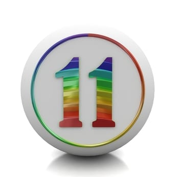 rainbow colored 11 - how to build success habits with the master number 11