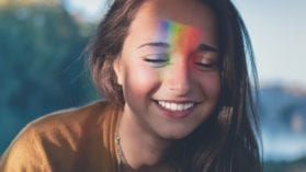 YOung WOman with Rainbow Third Eye