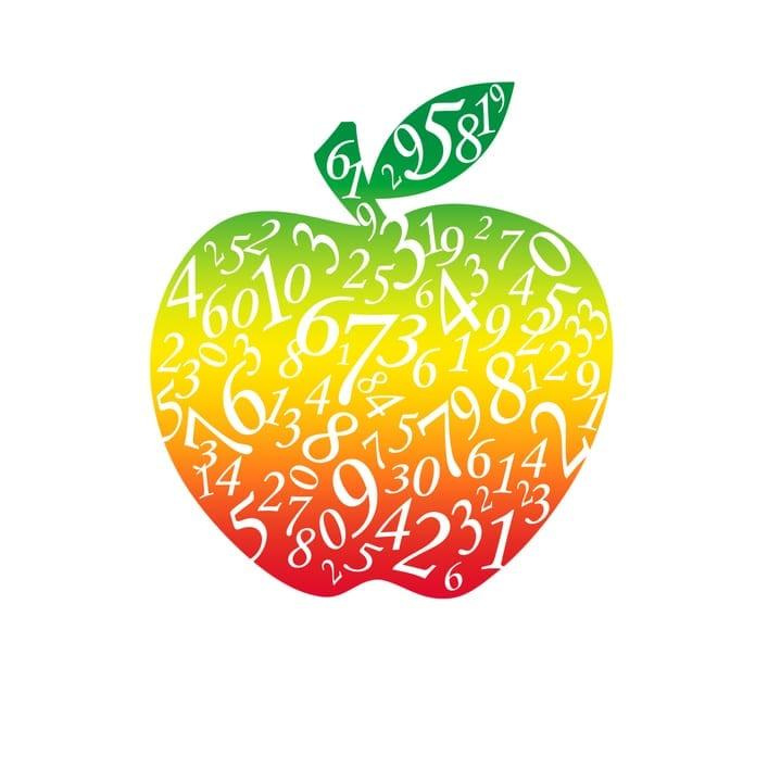 rainbow apple of infinite numbers