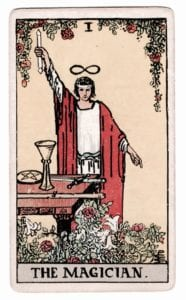The Magician Tarot Card (Rider-Waite Tarot Deck)