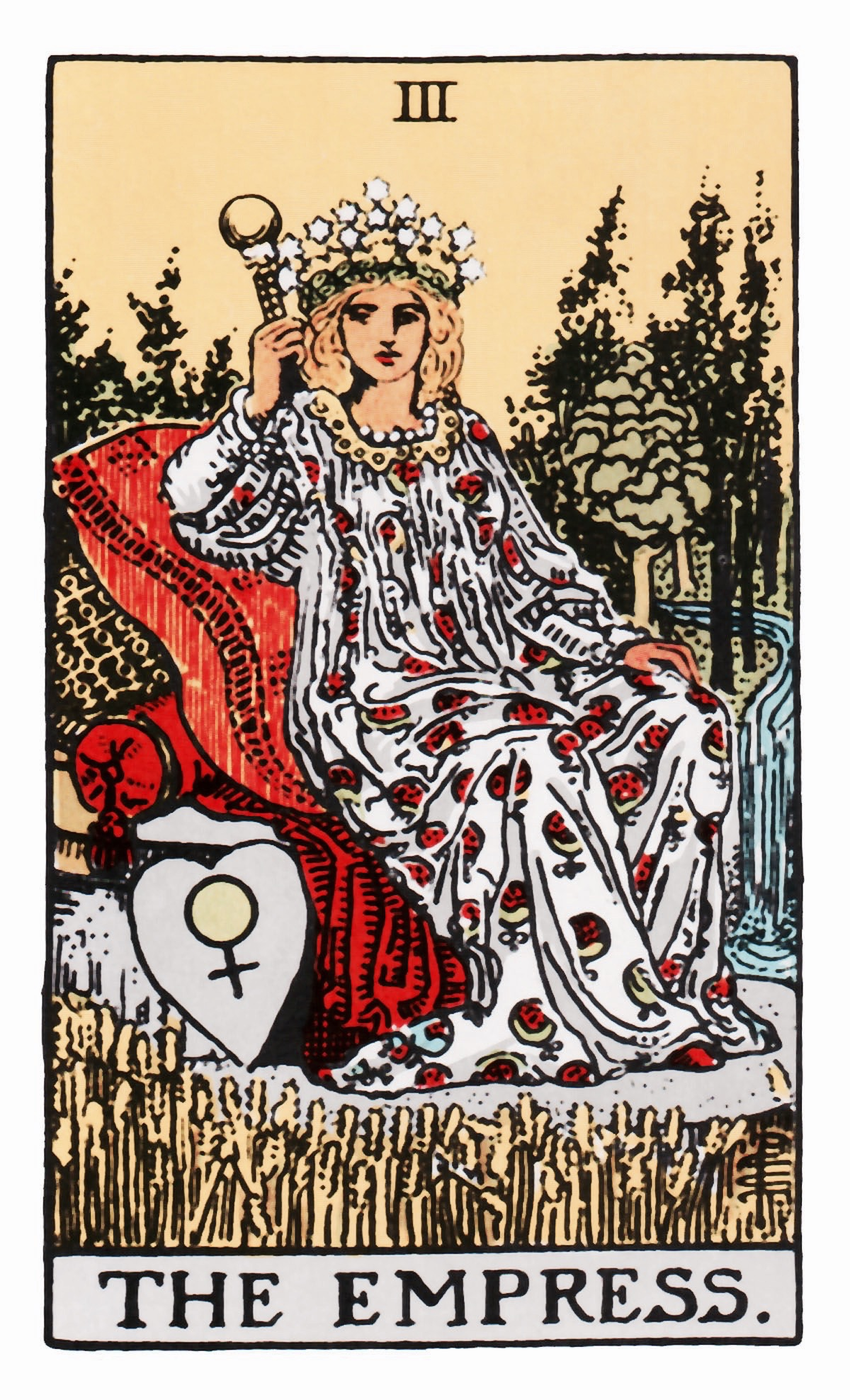 The Empress Tarot Birth Card (Rider-Waite Tarot Deck)