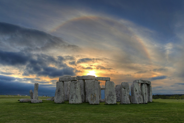 Sunset Solar Halo over Stonehenge