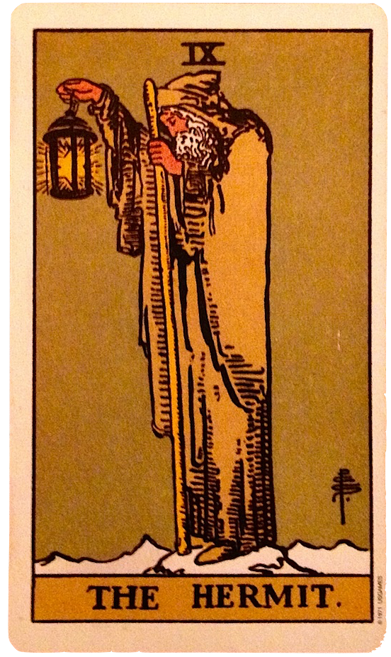 tarot birth card hermit life path 9