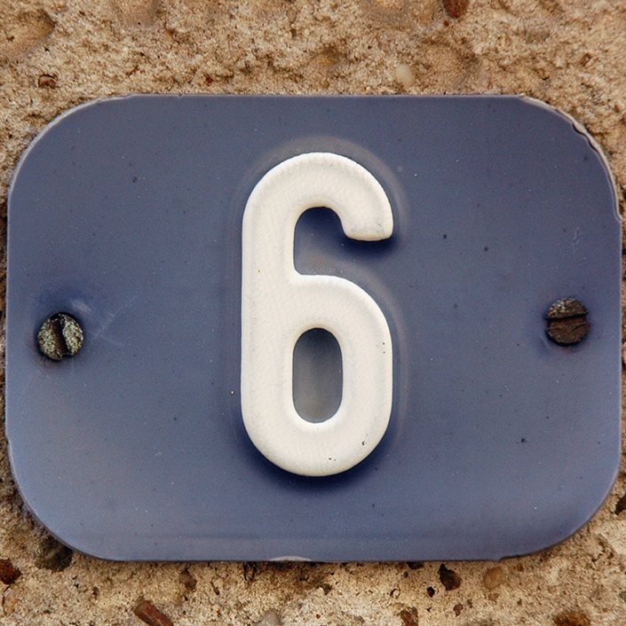 6 house number meaning