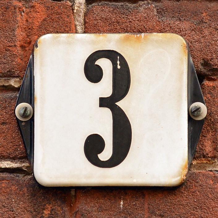 3 house number meaning