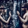 Blindfolded Couple in Forest