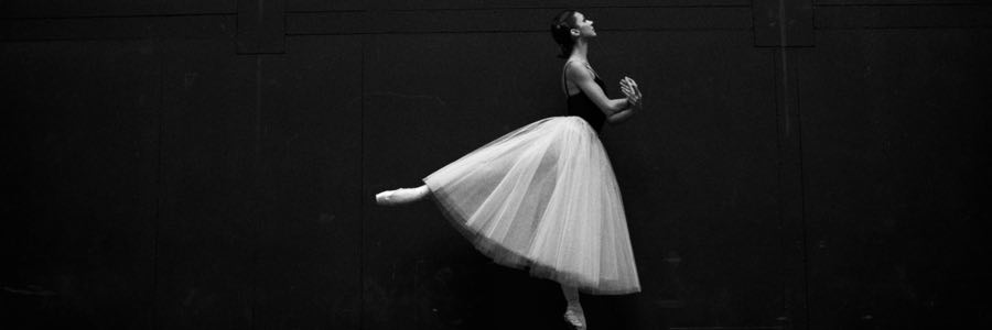 Ballet Dancer in Black & White