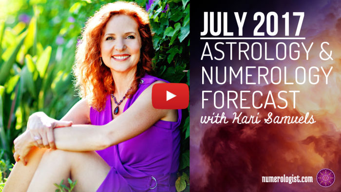 youtube video thumbnail - kari samuels astrology and numerology forecast july 2017