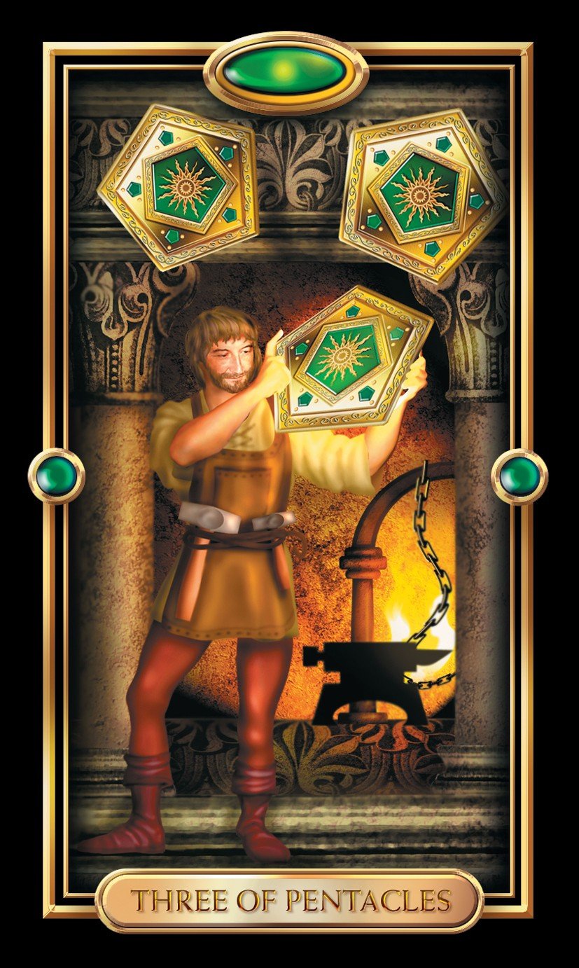 The Pentacles Suit Tarot Cards Meanings In Readings: Three Of Pentacles