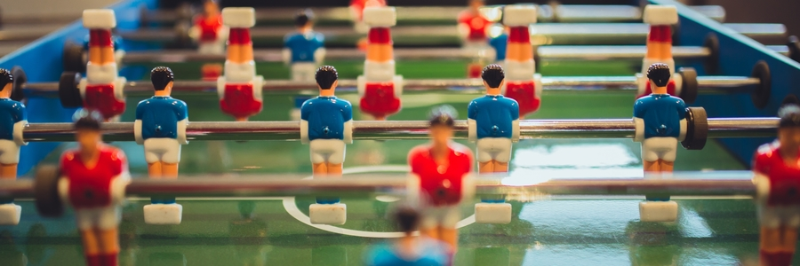 Close-up of Table Football