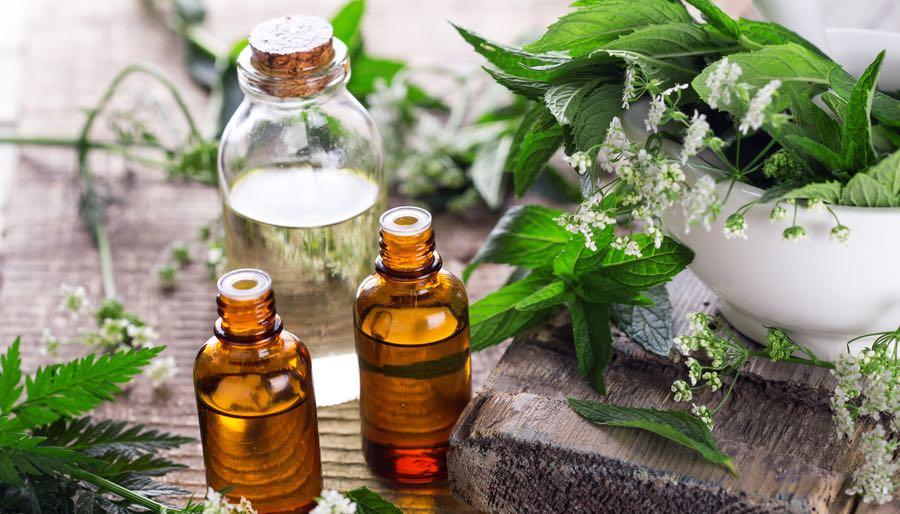 Bottle of Herbal Body Oil
