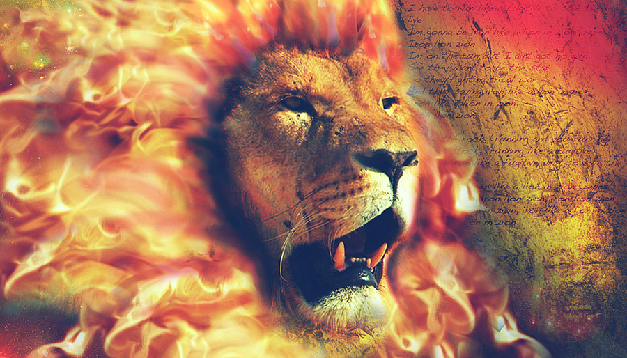 Leo Lion With a Mane of Fire