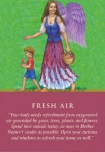 angel card fresh air