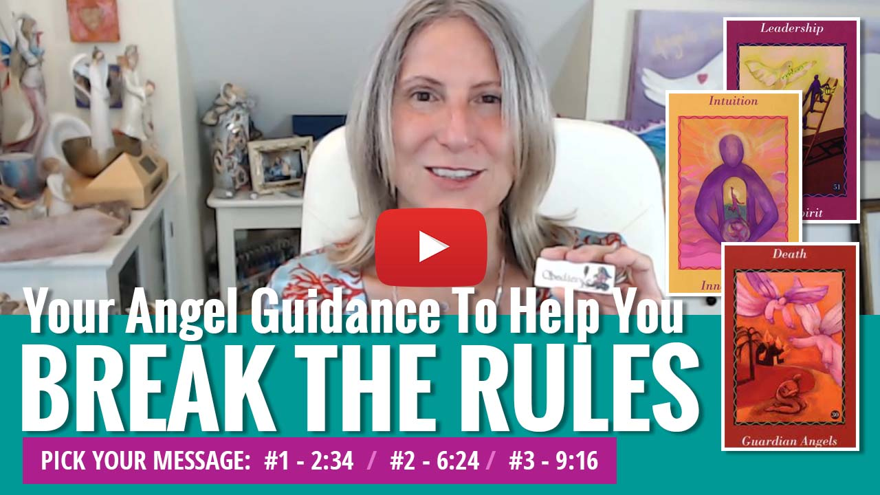 youtube video thumbnail - angel messages for breaking the rules
