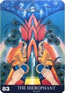 The Hierophant Angel Aura soma Card