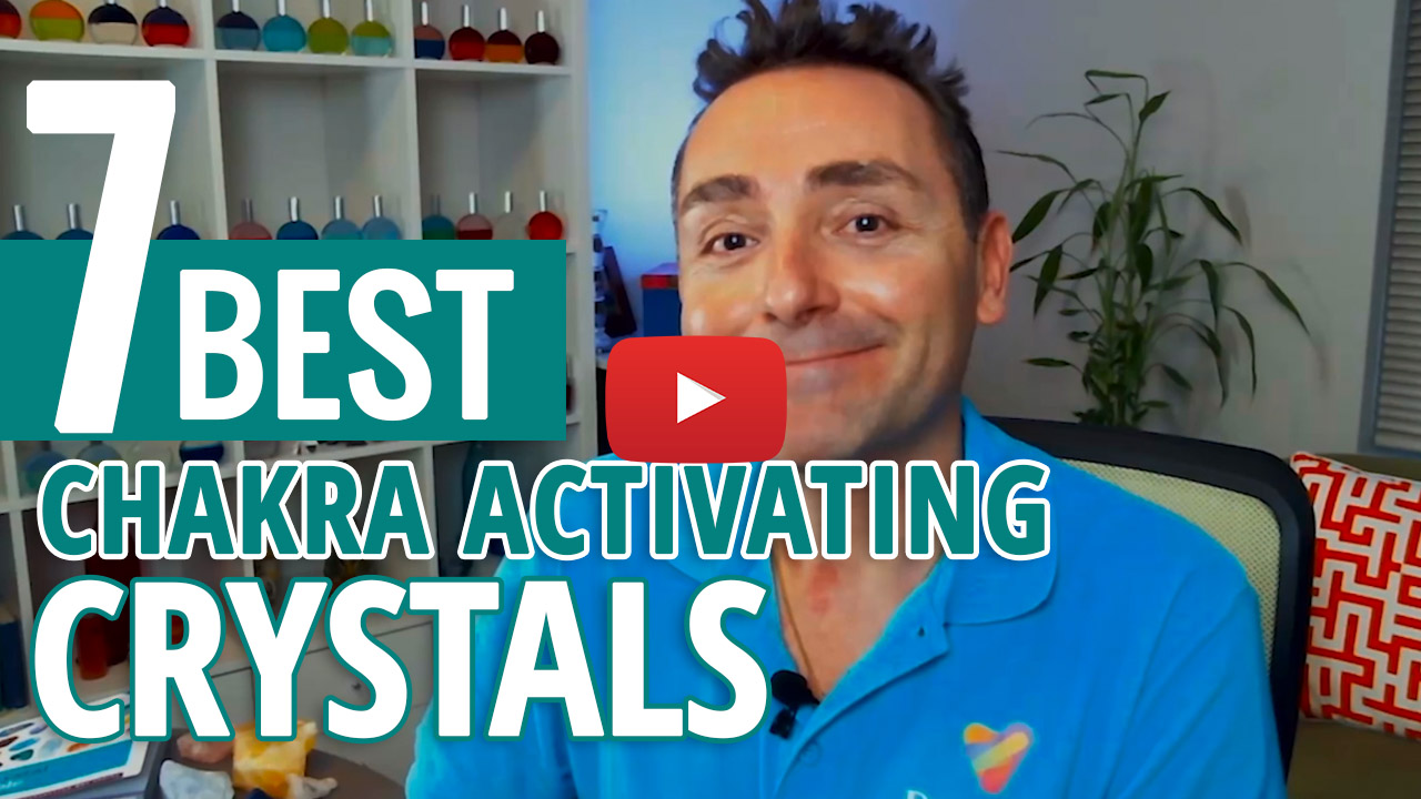 youtube video thumbnail - crystals for activating chakras