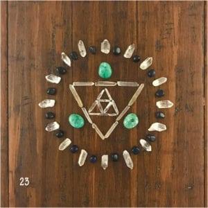 sacred crystal grid