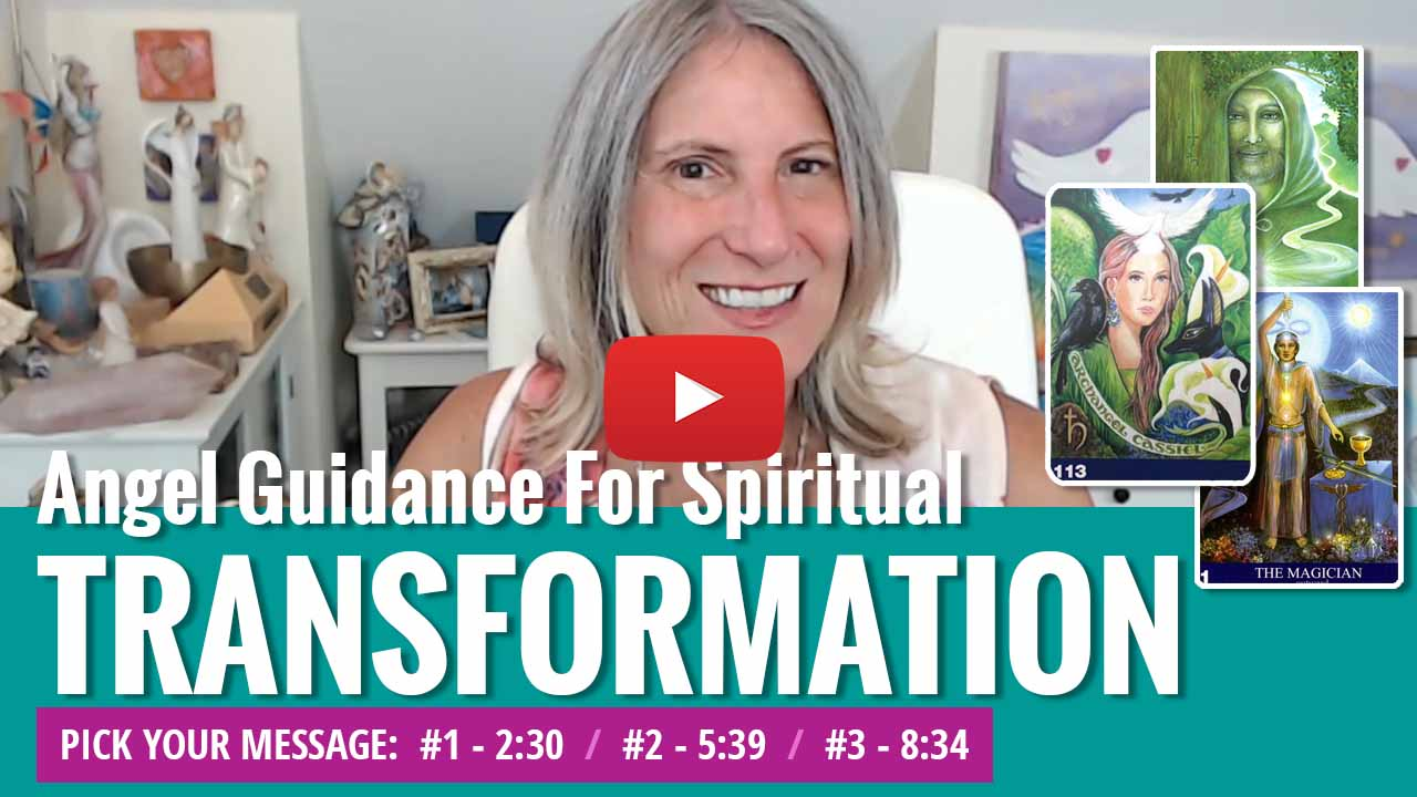 youtube video thumbnail - angel message for transformation