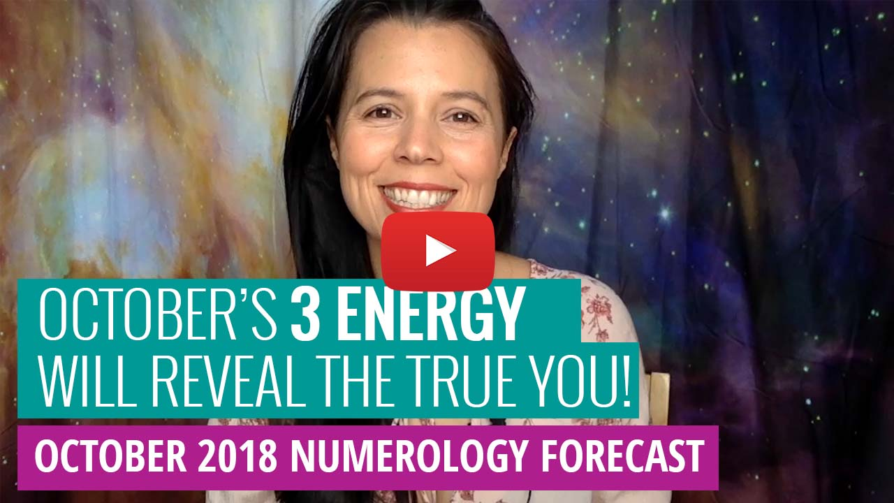youtube thumbnail - numerology forecast october 2018