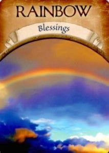 rainbow blessings angel oracle card