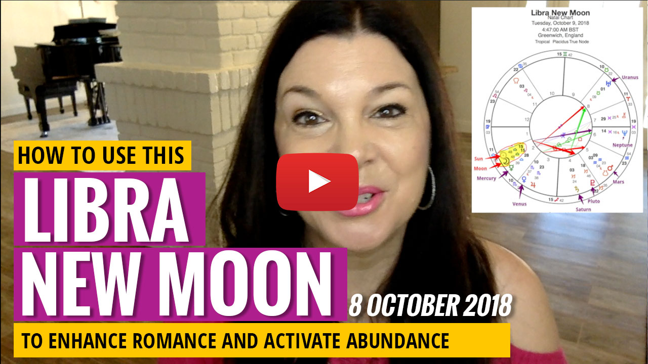 libra new moon october 2018 youtube video thumbnail