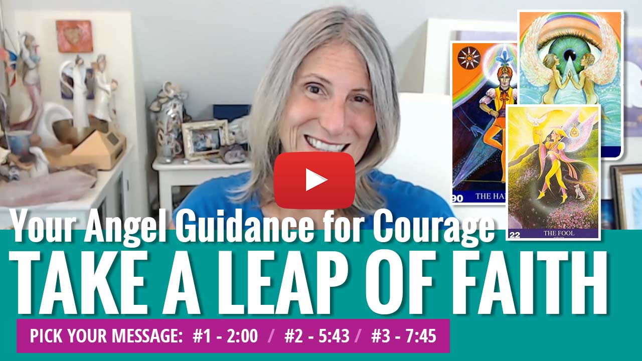 angel message for courage youtube video thumbnail