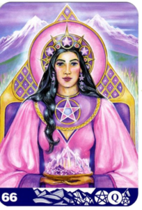 aura soma oracle card - queen of pentacle