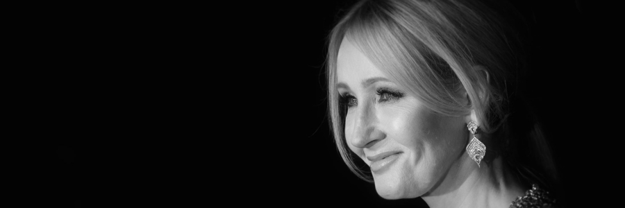 JK Rowling Black & White Headshot