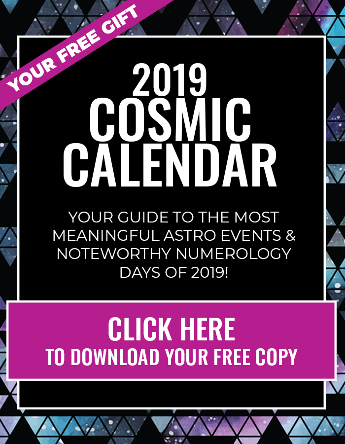 Cosmic Calendar.Our Holiday Gift To You Download Your Free 2019 Cosmic Calendar