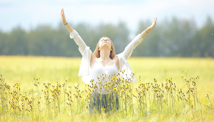 Solar Plexus Healing Woman