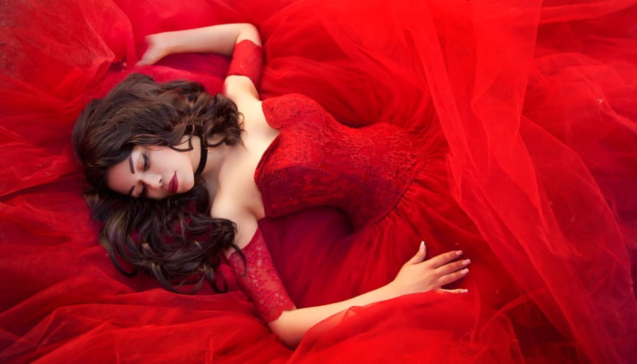 Woman in Red. Root Chakra