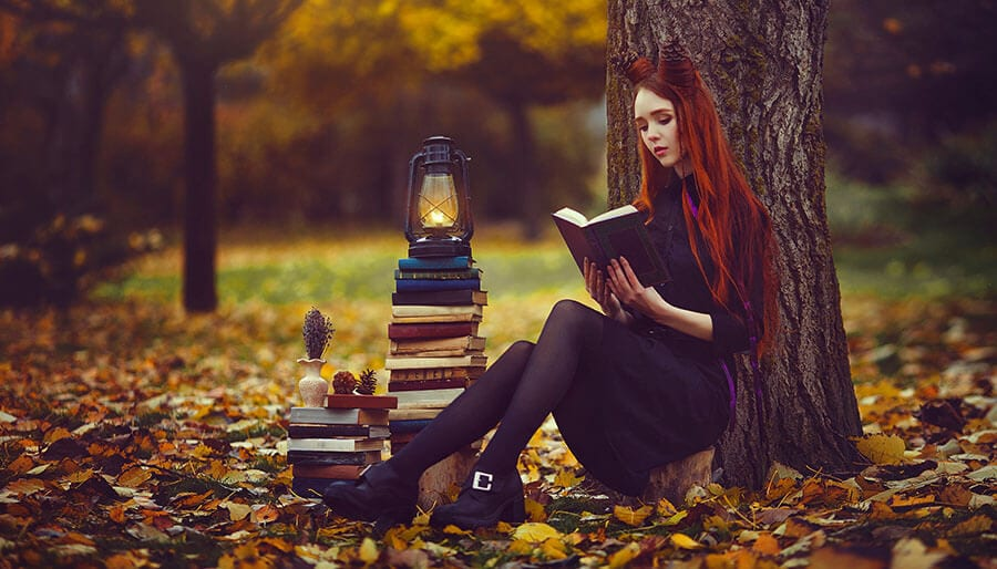budding witch studying magick