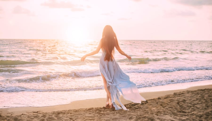 Angelic Woman on beach