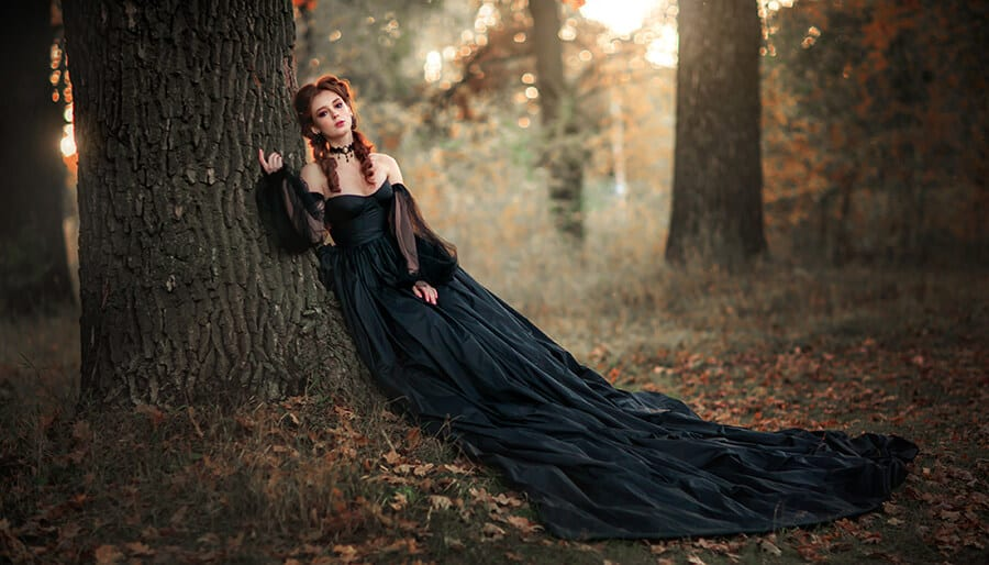 Magickal woman in the forest