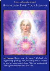 angel message honor and trust your feelings