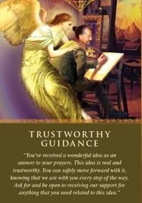 Angel message trustworthy guidance
